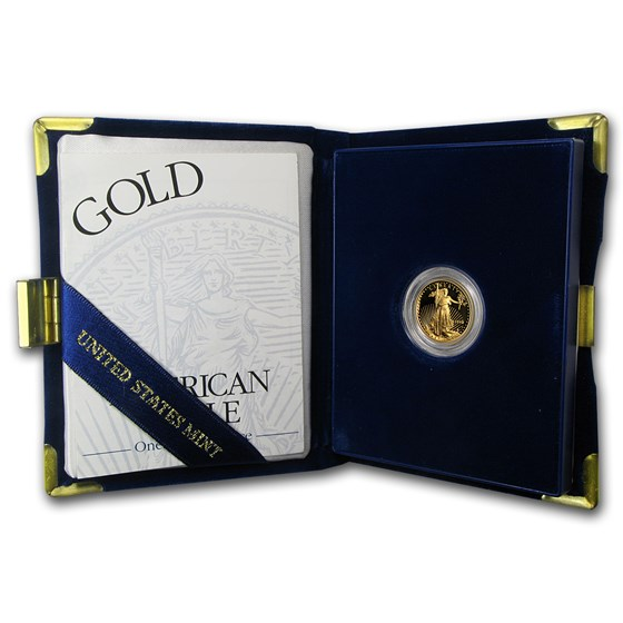 1998-W 1/10 oz Proof American Gold Eagle (w/Box & COA)