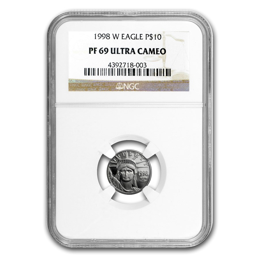 1998-W 1/10 oz Proof American Platinum Eagle PF-69 UCAM NGC