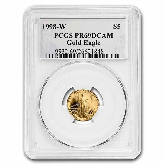 1998-W 1/10 oz Proof Gold Eagle PR-69 PCGS (Philip Diehl Signed)