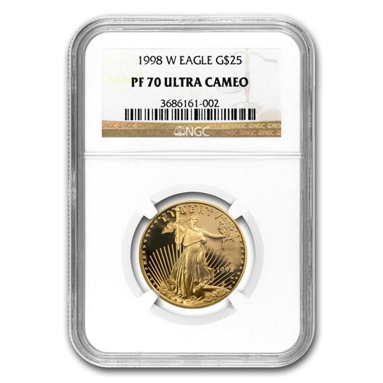 1998-W 1/2 oz Proof American Gold Eagle PF-70 NGC