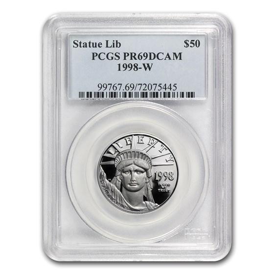 1998-W 1/2 oz Proof American Platinum Eagle PR-69 DCAM PCGS
