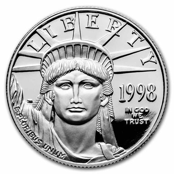 1998-W 1/2 oz Proof American Platinum Eagle (w/Box & COA)