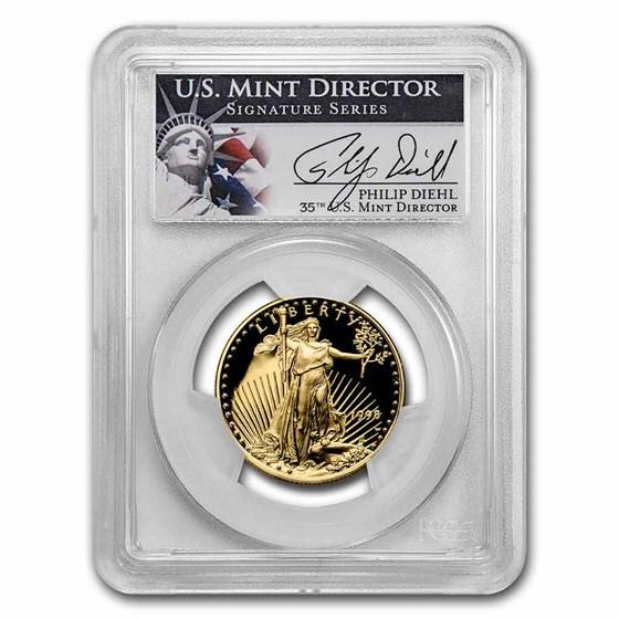 1998-W 1/2 oz Proof Gold Eagle PR-69 DCAM PCGS (Diehl Signed)