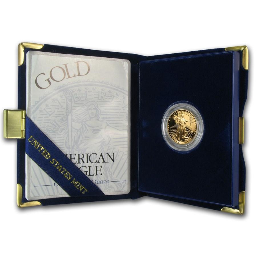 1998-W 1/4 oz Proof American Gold Eagle (w/Box & COA)