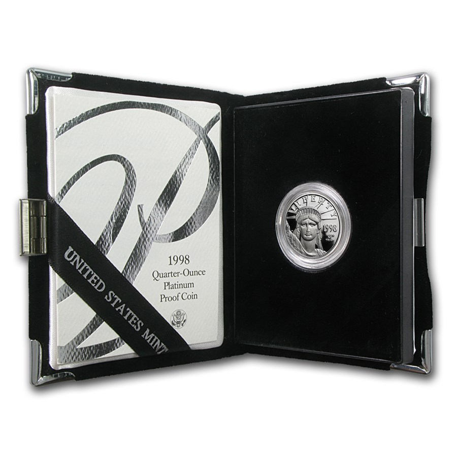 1998-W 1/4 oz Proof American Platinum Eagle (w/Box & COA)
