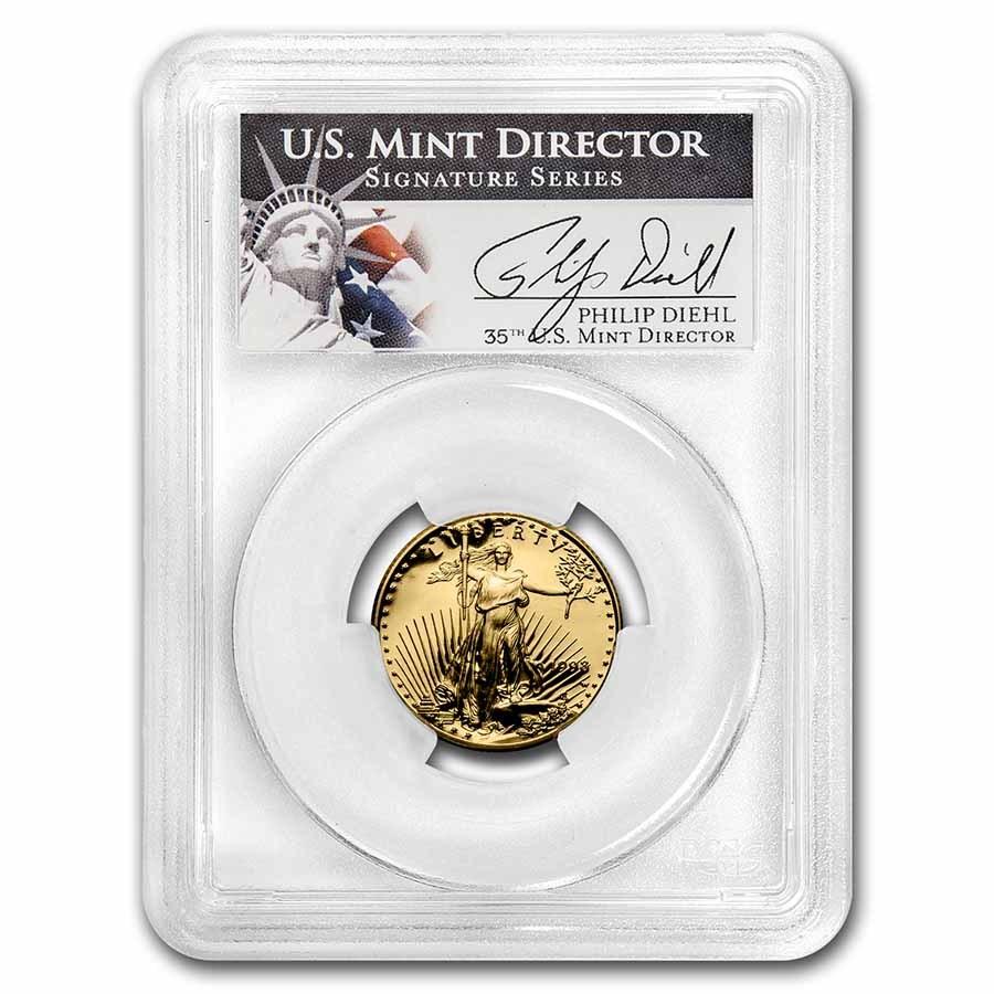 1998-W 1/4 oz Proof Gold Eagle PR-69 PCGS DCAM (Diehl Signed)