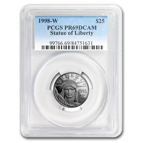 1998-W 1/4 oz Proof Platinum American Eagle PR-69 PCGS