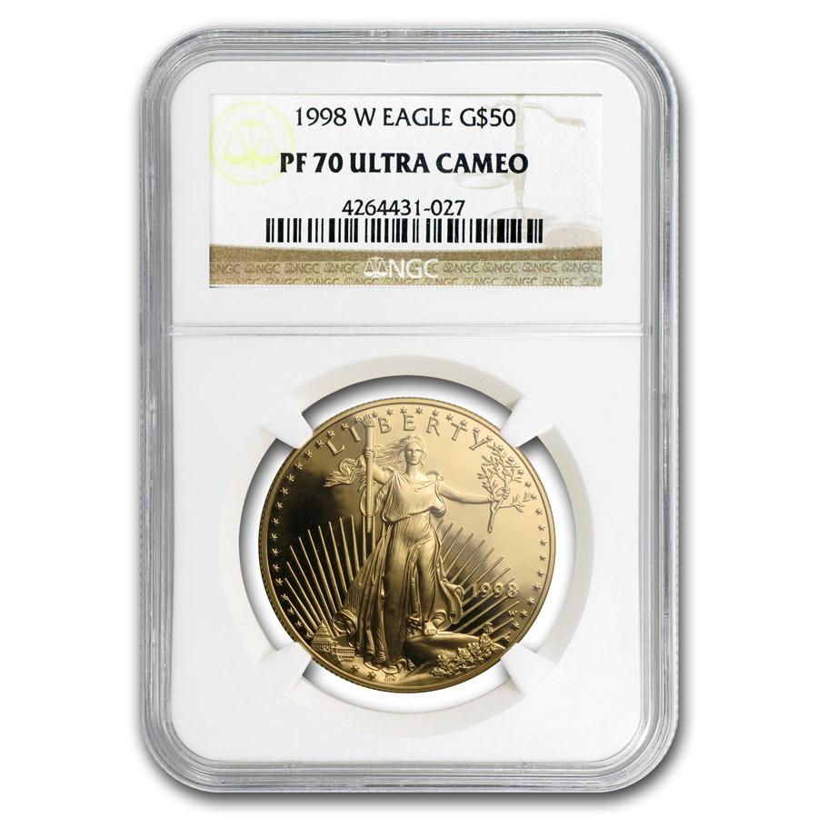 1998-W 1 oz Proof American Gold Eagle PF-70 NGC