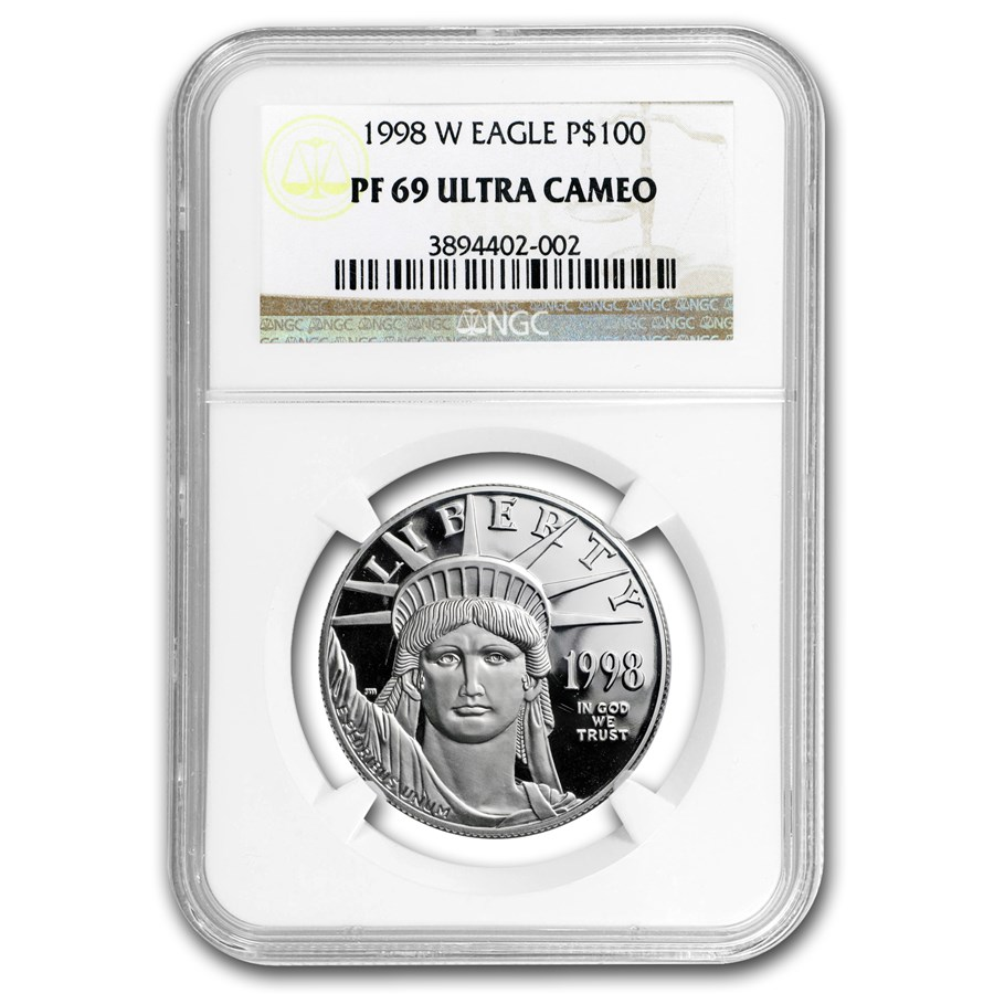 1998-W 1 oz Proof American Platinum Eagle PF-69 NGC
