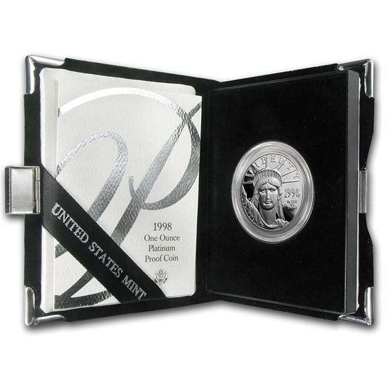1998-W 1 oz Proof American Platinum Eagle (w/Box & COA)