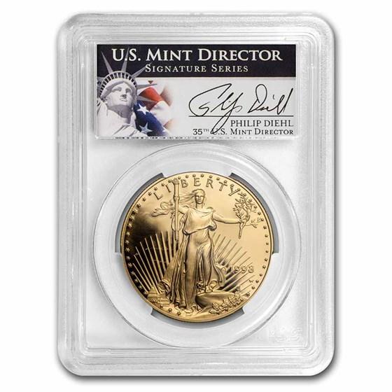 1998-W 1 oz Proof Gold Eagle PR-69 PCGS (Philip Diehl Signed)