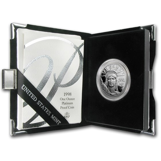 1998-W 1 oz Proof Platinum American Eagle (w/Box & COA)