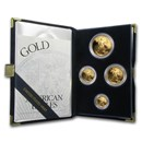 1998-W 4-Coin Proof American Gold Eagle Set (w/Box & COA)