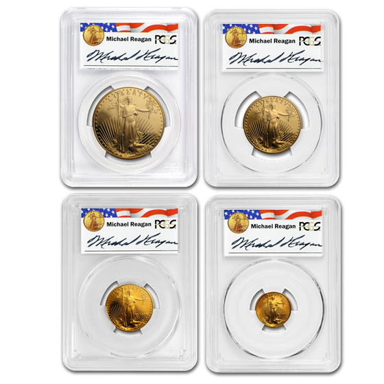 1998-W 4-Coin Proof Gold American Eagle Set PR-70 PCGS