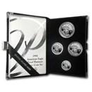 1998-W 4-Coin Proof Platinum American Eagle Set (w/Box & COA)