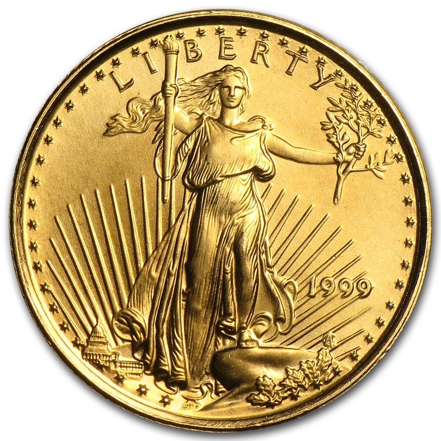 1999 1/10 oz American Gold Eagle BU