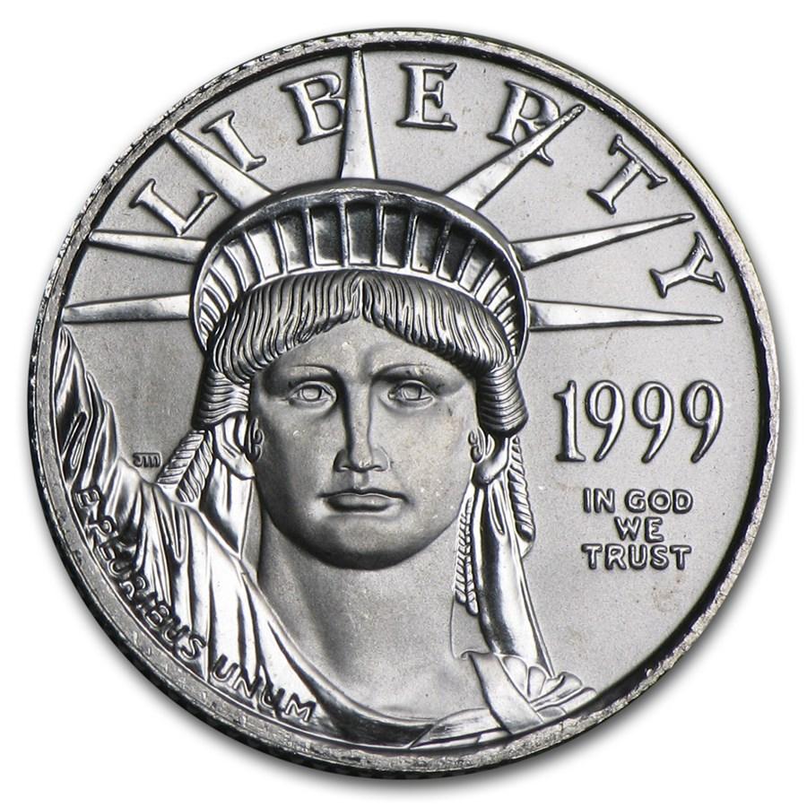 1999 1/10 oz American Platinum Eagle BU