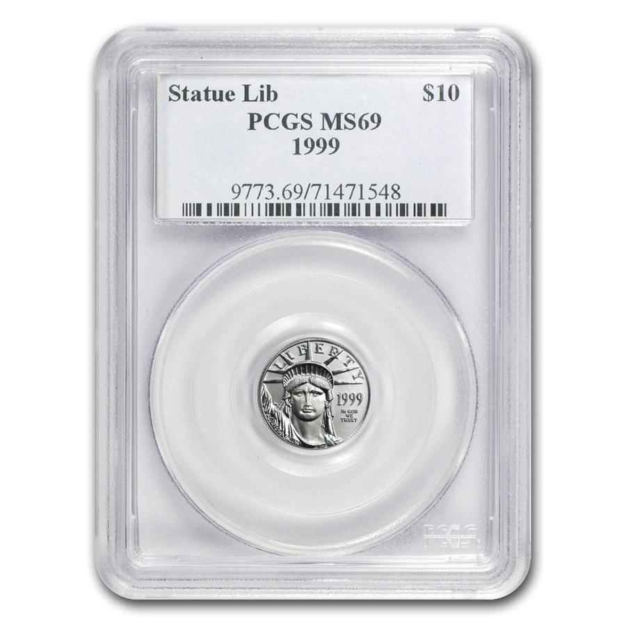 1999 1/10 oz American Platinum Eagle MS-69 PCGS
