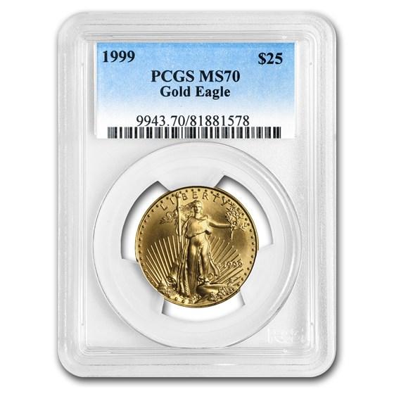 1999 1/2 oz American Gold Eagle MS-70 PCGS