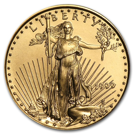 1999 1/4 oz American Gold Eagle BU