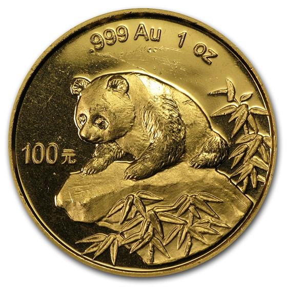 1999 1 oz Gold Chinese Panda Small Date (Abrasions)