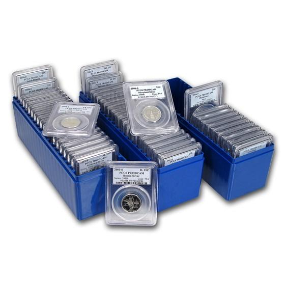 1999-2008 50 State Quarter U.S. Proof Set PR-69 PCGS (Silver)