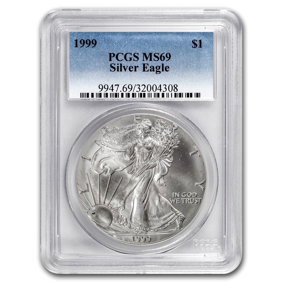 1999 American Silver Eagle MS-69 PCGS