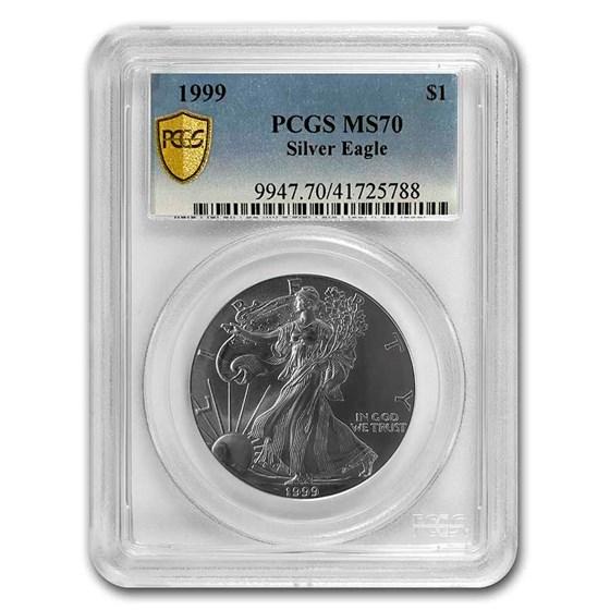 1999 American Silver Eagle MS-70 PCGS