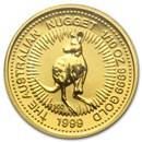 1999 Australia 1/10 oz Gold Nugget BU