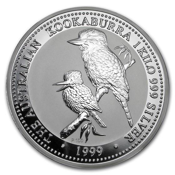 1999 Australia 1 kilo Silver Kookaburra BU