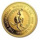 1999 Australia 1 oz Gold Nugget BU