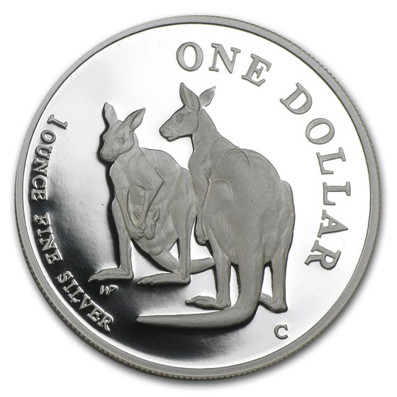 1999 Australia 1 oz Proof Silver Kangaroo (Capsule Only)