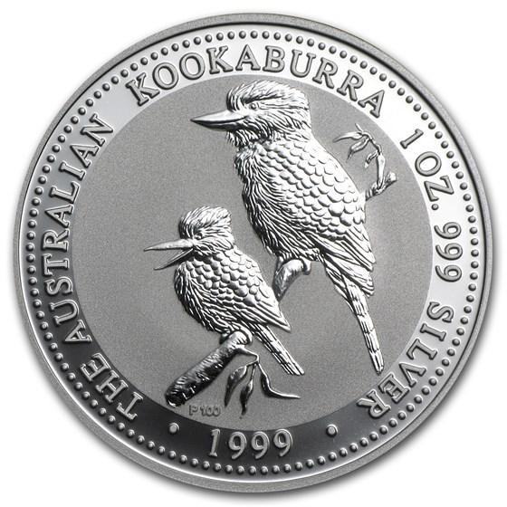1999 Australia 1 oz Silver Kookaburra BU