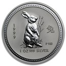 1999 Australia 1 oz Silver Year of the Rabbit BU (Series I)