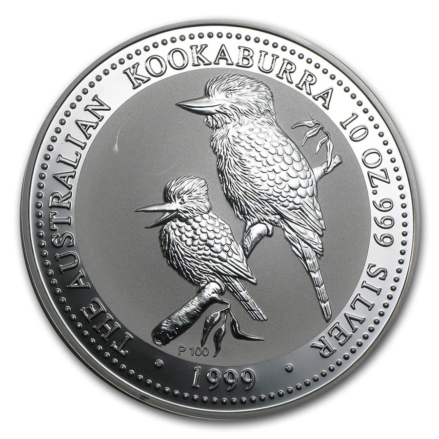 1999 Australia 10 oz Silver Kookaburra BU