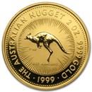 1999 Australia 2 oz Gold Nugget BU