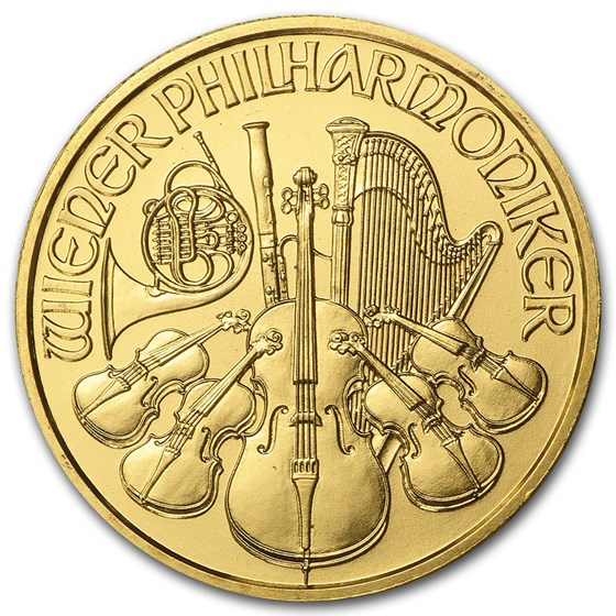 1999 Austria 1/4 oz Gold Philharmonic BU