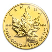 1999 Canada 1/4 oz Gold Maple Leaf BU (20 Years ANS Privy)