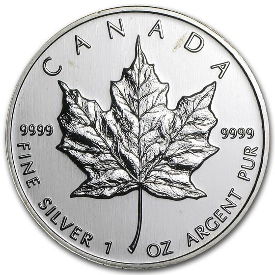 1999 Canada 1 oz Silver Maple Leaf BU