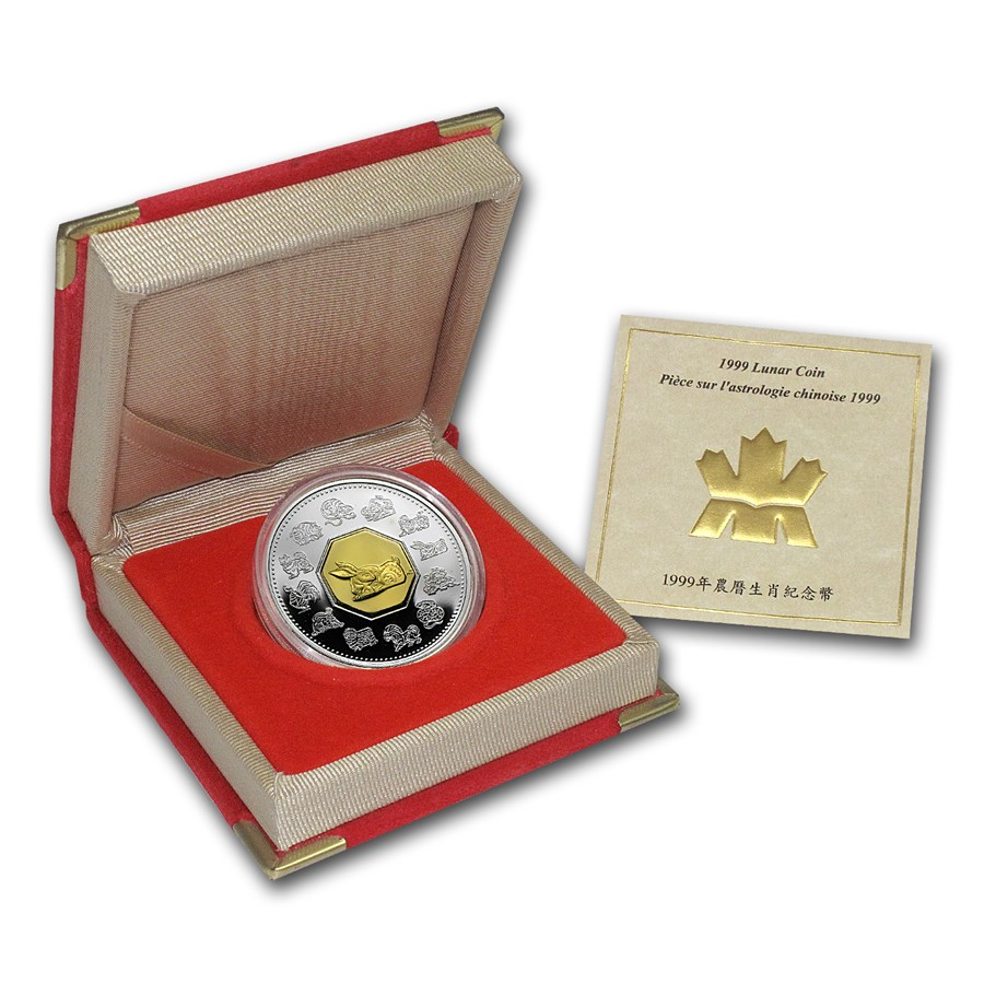 1999 Canada 1 oz Silver Year of the Rabbit Proof (w/Box & COA)