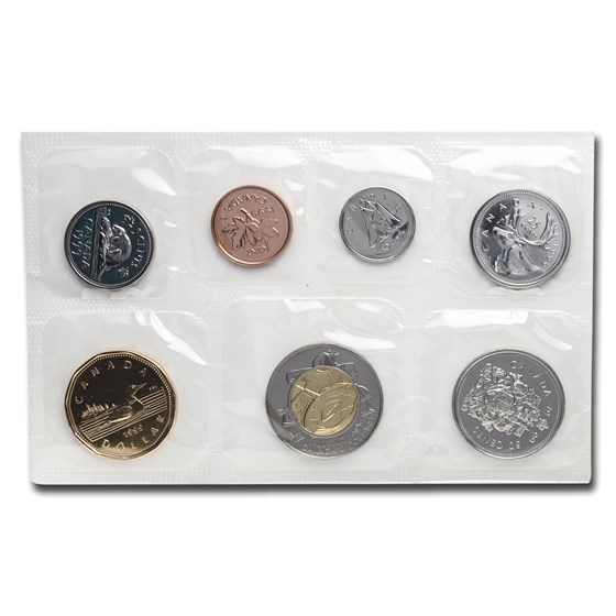 1999 Canada 7-Coin Proof Like Set (w/Drum Dance $2)