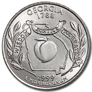 1999-D Georgia State Quarter BU