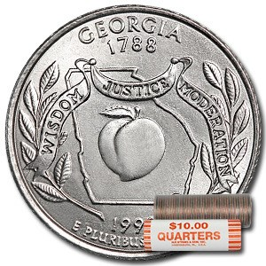 1999-D Georgia Statehood Quarter 40-Coin Roll BU