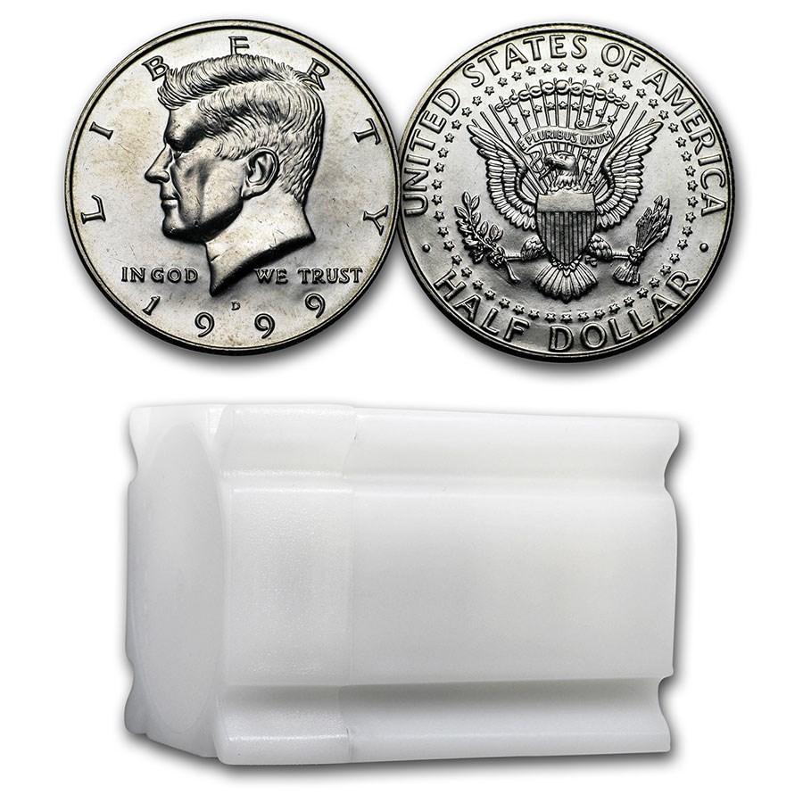 1999-D Kennedy Half Dollar 20-Coin Roll BU