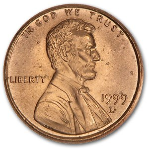 1999-D Lincoln Cent BU (Red)