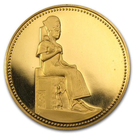 1999 Egypt Proof Gold 50 Pounds Ramses II