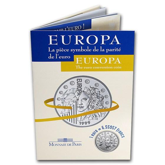 1999 France Silver Euro Conversion Coin BU