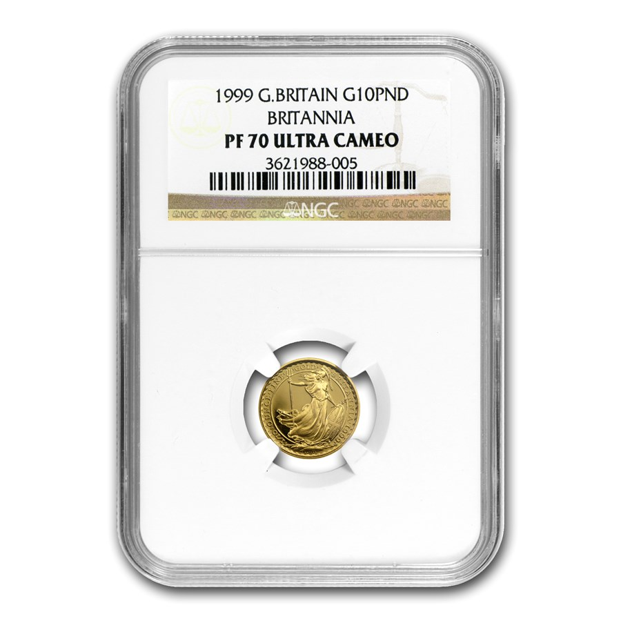 1999 Great Britain 1/10 oz Proof Gold Britannia PF-70 NGC UCAM