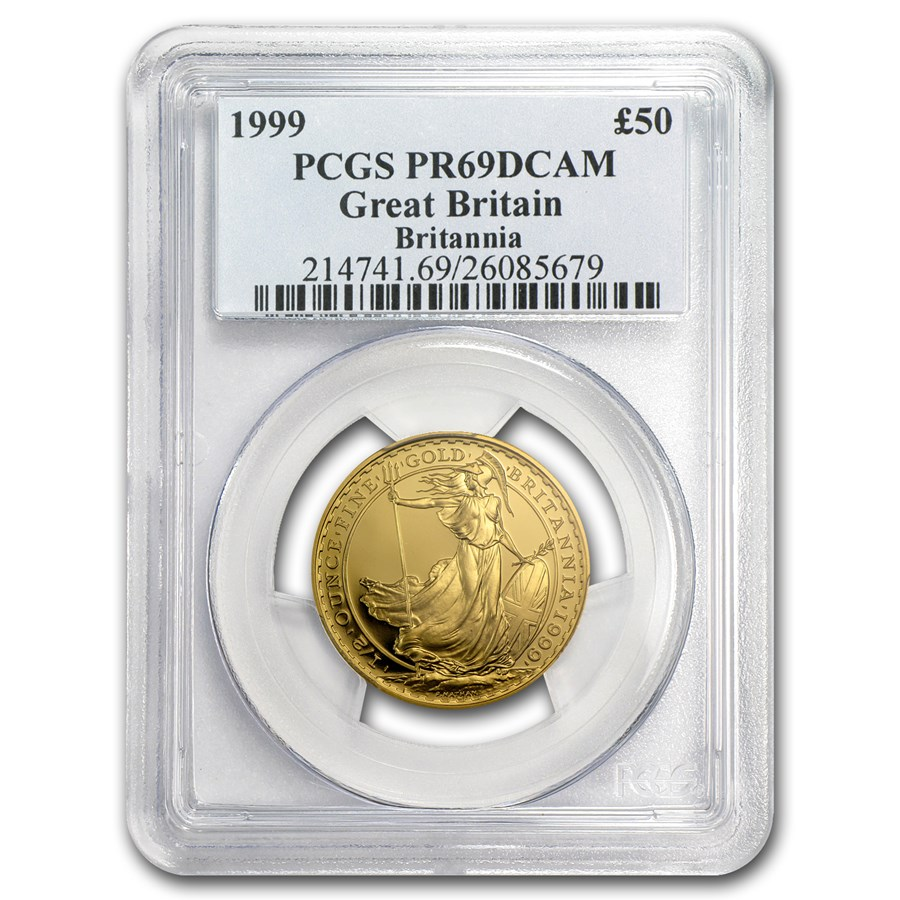 1999 Great Britain 1/2 oz Proof Gold Britannia PR-69 PCGS
