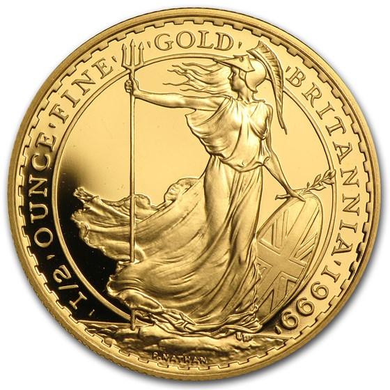 1999 Great Britain 1/2 oz Proof Gold Britannia
